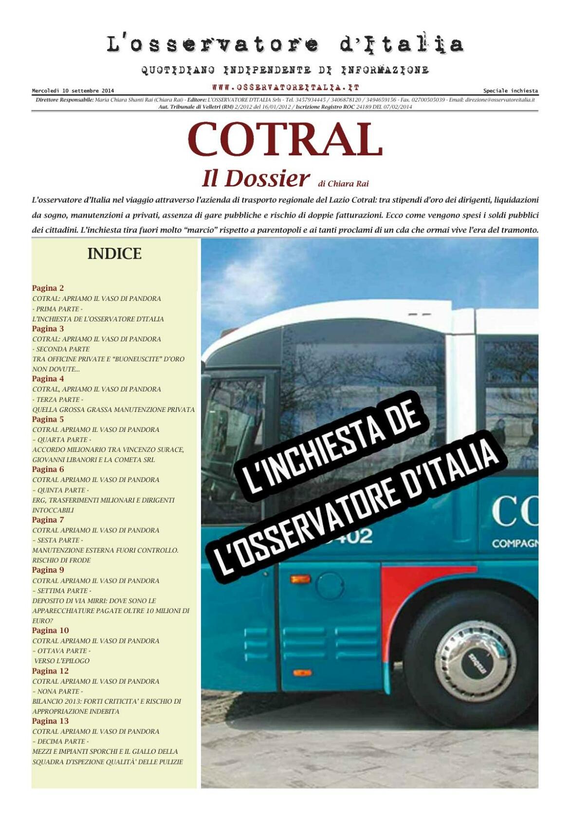 L�Osservatore d�Italia - Ultima edizione